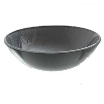 Lavamanos vessel vidrio gris templado 42x42x160