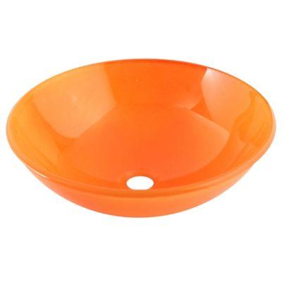 Lavamanos vessel vidrio naranja temp