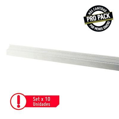 Pack  x10 Esquinero Plástico 2.4 Mt Blanco