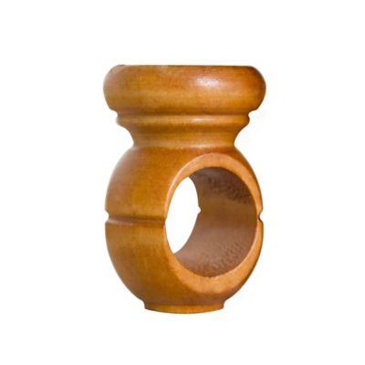 Soporte en madera techo caoba small bolillo x1