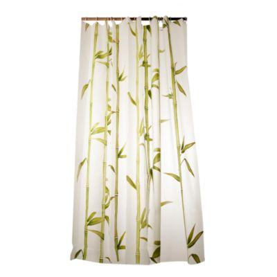 Cortina baño bambú peva 12 ganchos 178 cm x 180 cm, Casa Bonita
