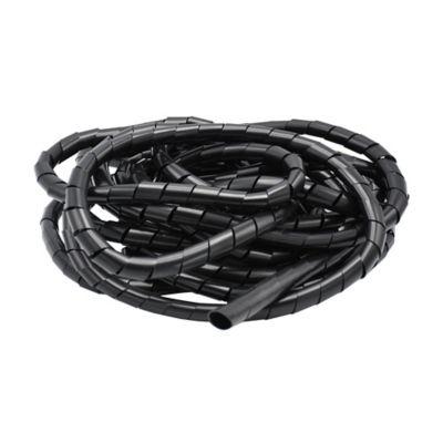 Organizador para cables 1,2 cm ancho x 5 metros largo negro