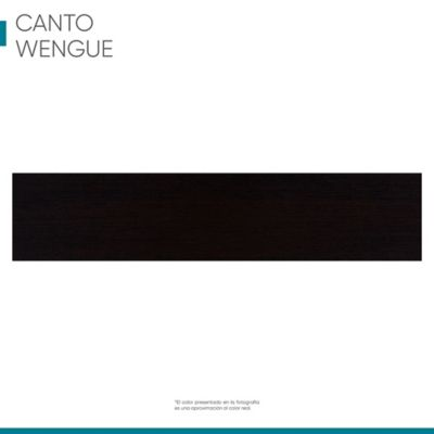 Canto rígido 19 mm x 1 metro wengue