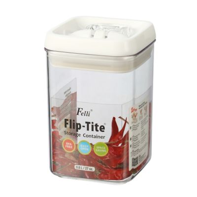 Tarro acrílico cuadrado 0.9 litros flip tite