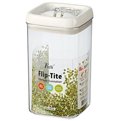 Tarro acrílico cuadrado 2.3 litros flip tite