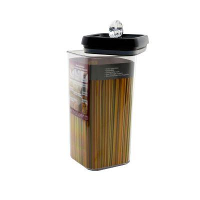 Tarro acrílico cuadrado 3.1 litros flip tite