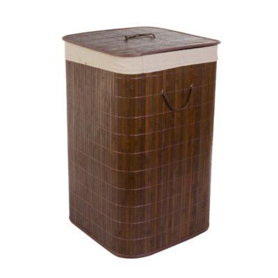 Canasta para ropa cuadrada bamboo chocolate