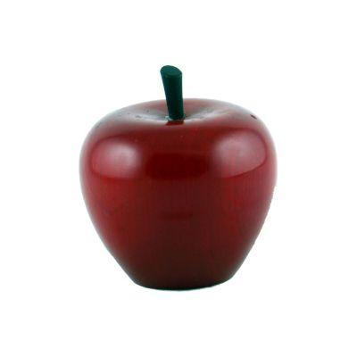Fruta madera manzana 9 cm brillante