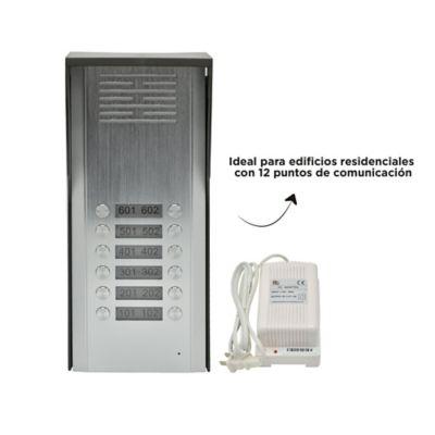 Portero eléctrico 12 estaciones + adaptador de corriente