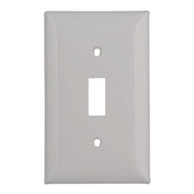 Placa interruptor sencilla blanca