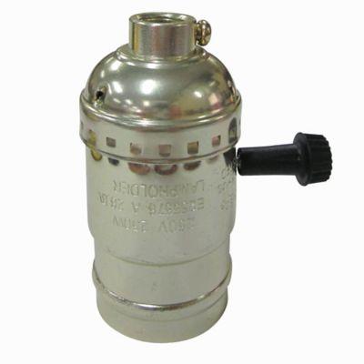 Portalampara Dorado con Interruptor Giratorio 250V