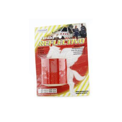 Película Vinilo Reflectiva Roja 5cm 5m