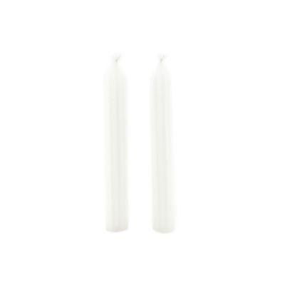 Set x 2 Velas Candelabro 1,6 x 24 cm Blancas