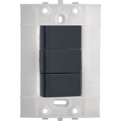 Interruptor Triple Decor, 10 A, 250 V, Grafito, sin Placa