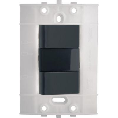 Interruptor Conmutable Doble Decor, 10 A, 250 V, Grafito, 3 Vías, sin Placa