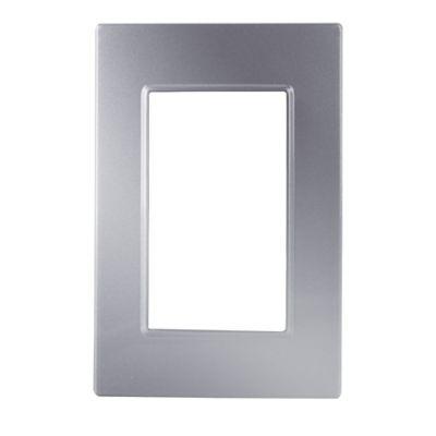 Placa plata metalizada quadra