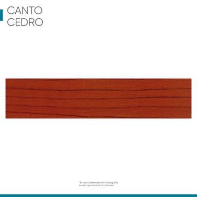 Canto 22 mm x 1 metro color cedro