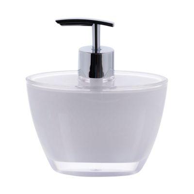 Dispensador jabón acrílico blanco doble pared