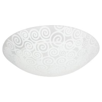 Plafón blanco caracol 25 cm 1 luz 60w