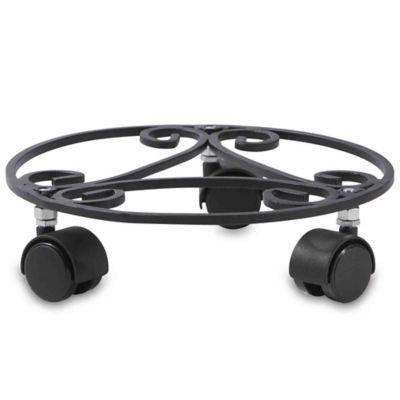 Base hierro materas deko 35 cm con ruedas