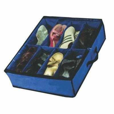Organizador De Zapatos Bajo Cama 61x51x15 8 Pares Azul