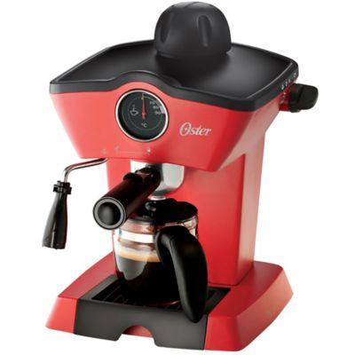 Cafetera para Expresso y Capuchino 4 Tazas -Rojo
