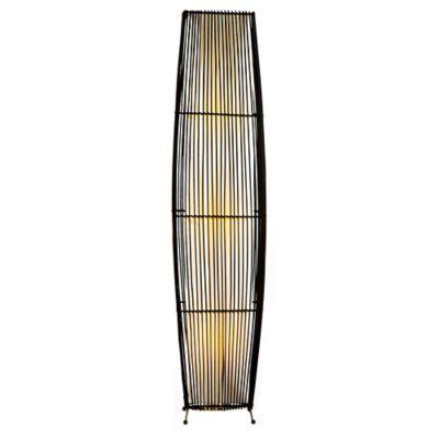 Lámpara de Pie en Bambú 3 Luces 40w Rosca E14 Café