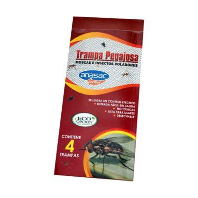 Trampa Pegajosa Para Insectos Voladores x 4 unidades