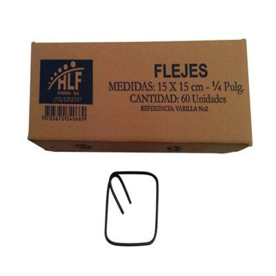 Fleje o Estribo 15 x 15cm x 1/4pulg Caja 60 Und.