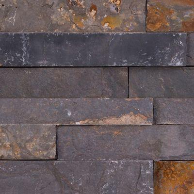 Piedra mosaico multicolor 18 x 35 x 1-2 cm cj 0.504 m2