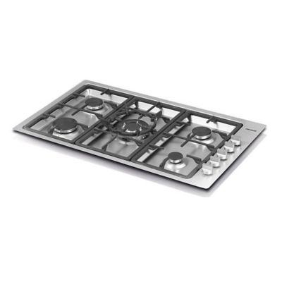 Estufa Acero Inoxidable 86x51 cm 5 Puestos 1.6990.73