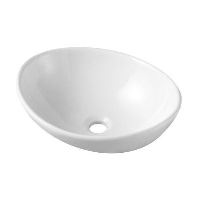 Lavamanos Vessel Ovalado Blanco 39x32.5x14C