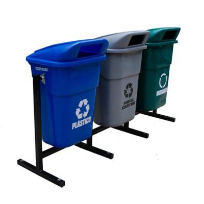 Estación de Reciclaje x 3 Canecas 100 Lt