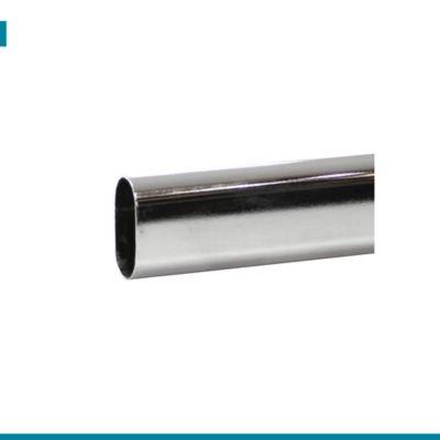 Tubo Closet Ovalado Niquel 0.8X15X3mm 3mt