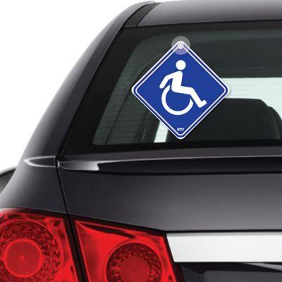 Señal Discapacitado Reflectiva 14X14Cm