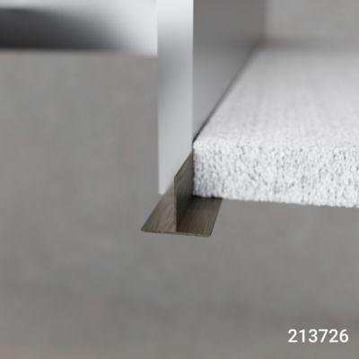 Tee Champana Oscuro 3m 18mm x 23mm Aluminio