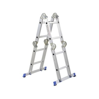Escalera 2.4mt 8 Pasos Multipropósito Aluminio 150kg