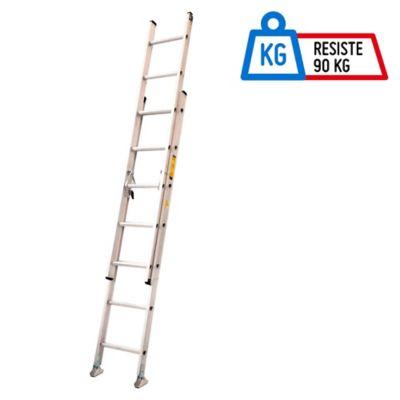 Escalera 4.27mt 14 Pasos Extensión Aluminio 90kg TIII