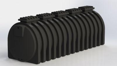 Tanque Cilíndrico Horizontal 12.500 Litros