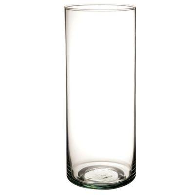 Florero Vidrio Cilindrico 25 x 10Cm Clear