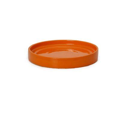 Plato redondo porta matero esmaltado naranja