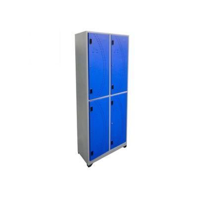 Locker metálico 4 puestos azul de 180x63x30 cm