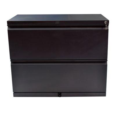Archivador horizontal 2 gavetas negro