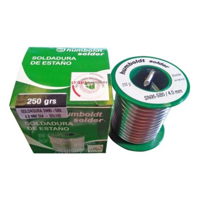 Soldadura Estano SN95-SB5 4.2mm x 250Gr P.Cobre