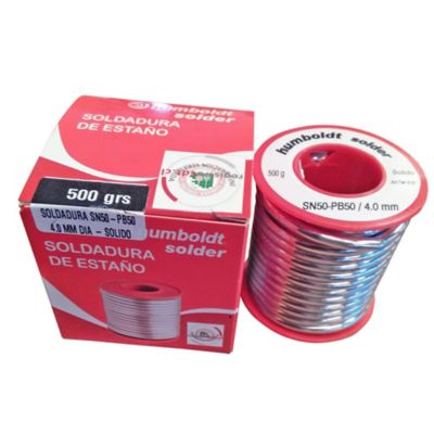 Soldadura Estano SN50-PB50 4.2mm x 500Gr P. Cobre
