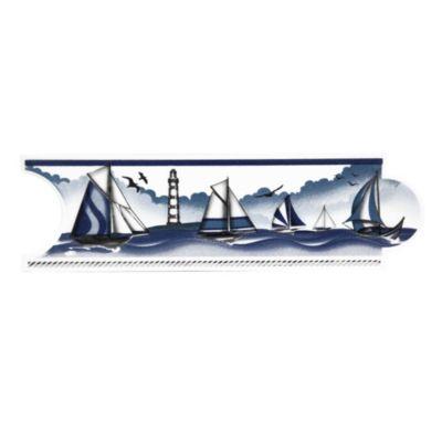 Listelo para Baños Barlovento Azul 8x25cm