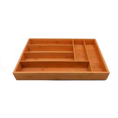 Caja Para Utensilios en Bambu de 45 x 30.5 x 6.5 cm
