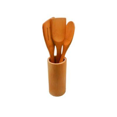 Set x 3 Utensilio con Recipiente en Bambu de 30 cm