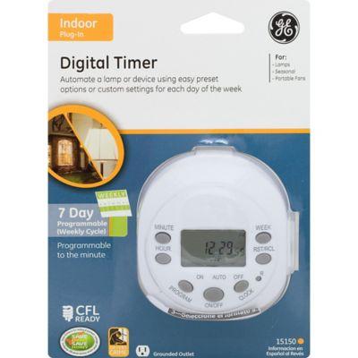 Timer Digital Blanco 7 días 1 Sal