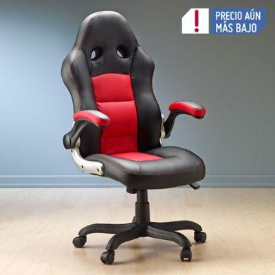 Silla escritorio gerente negra con rojo